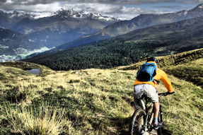 mountain biking with beautiful scenery