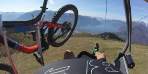riding a chairlift with outstanding view of locarno and lago maggiore