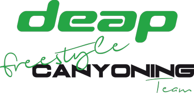 Deap freestyle canyoning team logo