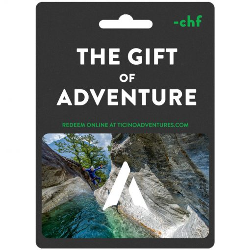 gift certificate for ticino adventures activities