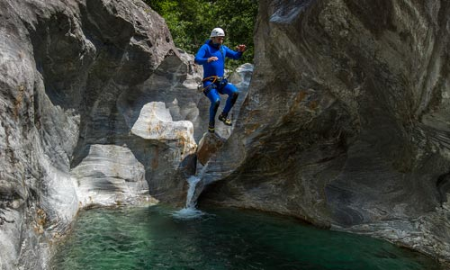 Ticino Adventures School Youth Beginner Soft Canyoning