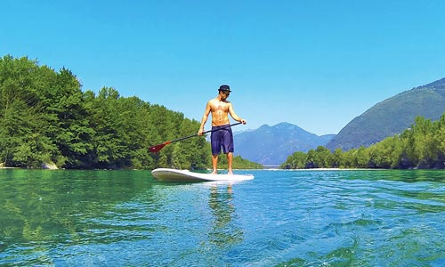 stand up paddle on the ticino river