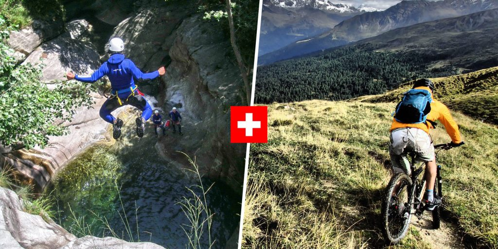 canyoning in iragna and mountain biking