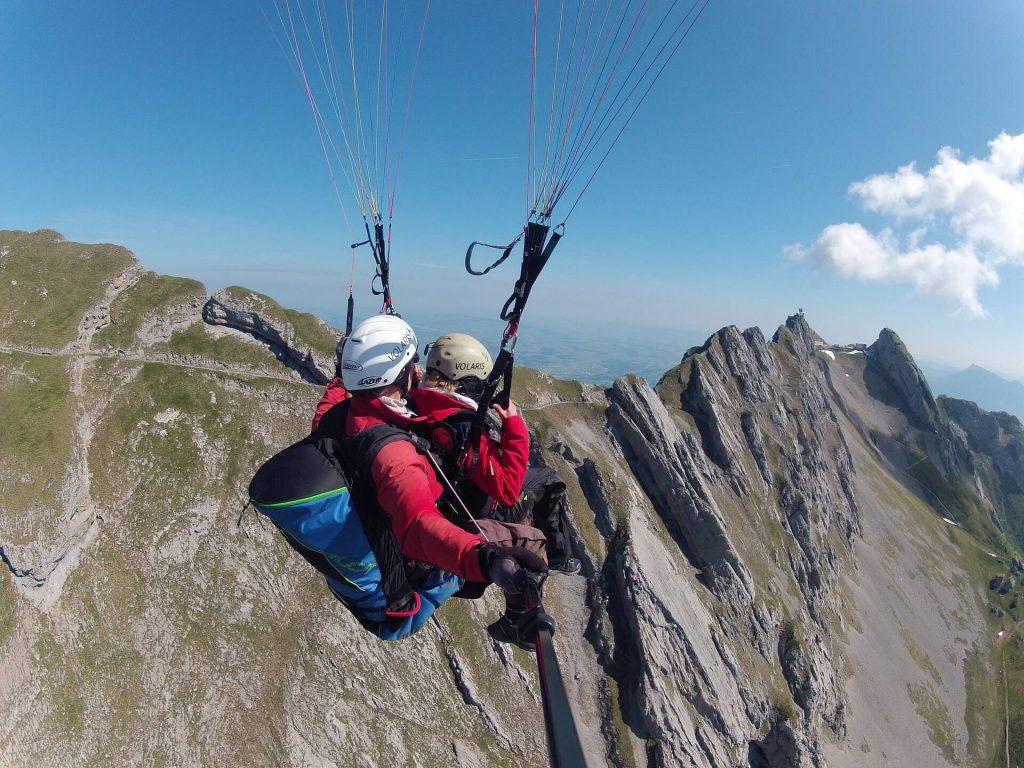 Paragliding tandem Ticino